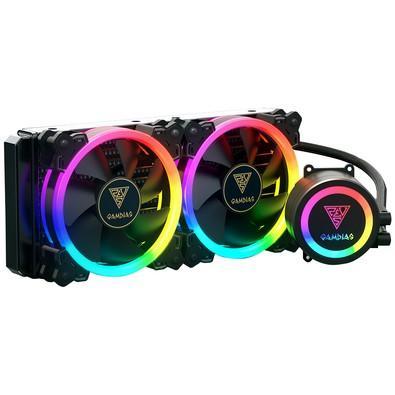 Water Cooler Gamdias RGB com 2 Unidades, 120mm - CHIONE M1A-240R