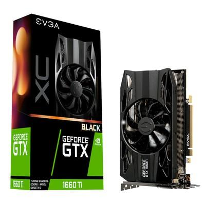 Placa de Vídeo EVGA NVIDIA GeForce GTX 1660 Ti XC Black Gaming 6GB, GDDR6 - 06G-P4-1261-KR