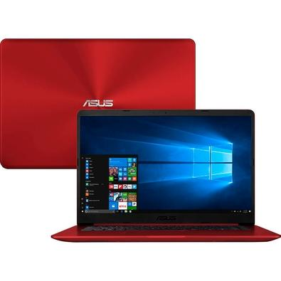 Notebook Asus VivoBook, Intel Core i5-8250U, 8GB, HD 1TB, 15.6´, Windows 10 Home, Vermelho - X510UA-BR1160T