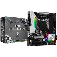 Placa-Mãe ASRock B450M Steel Legend, AMD AM4, mATX, DDR4 - 90-MXB9Y0-A0BAYZ
