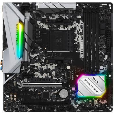 Placa-Mãe ASRock B450M Steel Legend, AMD AM4, mATX, DDR4 - 90-MXB9Y0-A0UAYZ