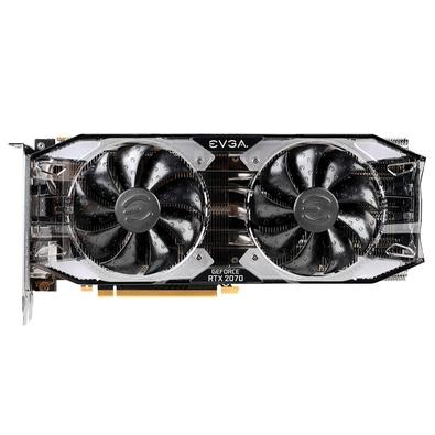 Placa de Vídeo EVGA NVIDIA GeForce RTX 2070 XC Black Gaming 8GB, GDDR6 - 08G-P4-2171-KR