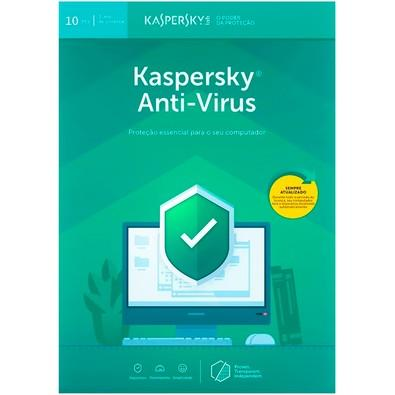 Kaspersky Antivírus 2019 10 PCs - Digital para Download
