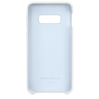 Capa Protetora Samsung Silicone para Galaxy S10e, Branca - EF-PG970TWEG