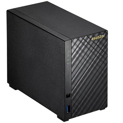 Storage Asustor V2 Marvell NAS 512MB, 2 HD 8TB, 2 Baias - AS1002T16000