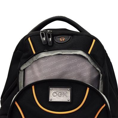 Mochila OEX Sport para Notebook até 15?, Preta e Laranja - BK102