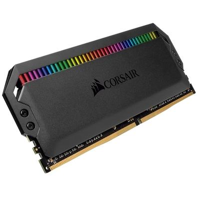 Memória Corsair Dominator RGB, 32GB (2x16GB), 3000Hz, DDR4, C15, Preto - CMT32GX4M2C3000C15
