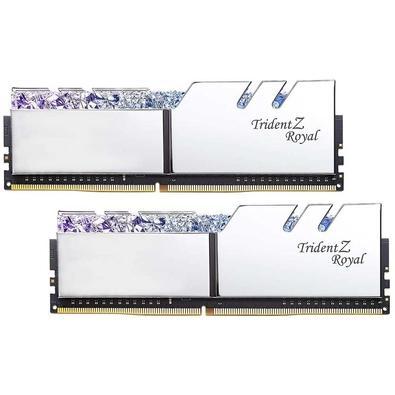 Memória G.Skill Trident Z Royal, 16GB (2x8GB), 4000Hz, DDR4, C17 - F4-4000C17D-16GTRS