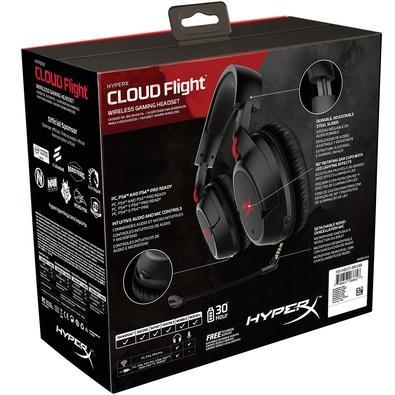 Headset Sem Fio Gamer HyperX Cloud Flight, LED, Drivers 50mm, Preto - HX-HSCF-BK/AM