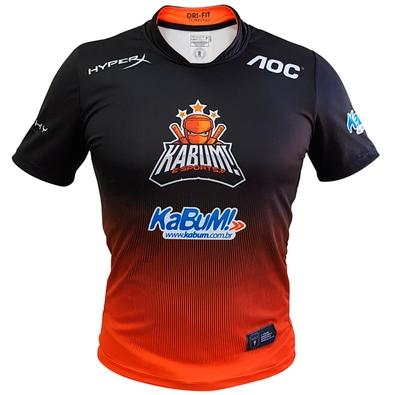 Camiseta Uniforme Oficial KaBuM! e-Sports 2019, Orange Ninja, Dry-Fit, Tamanho P