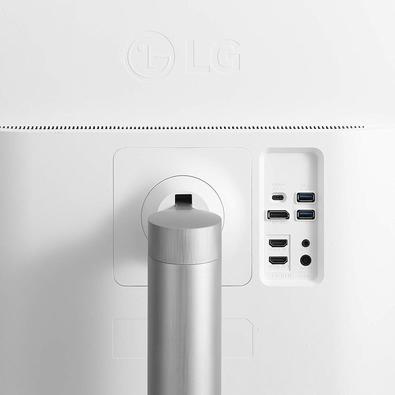 Monitor LG 32´ Widescreen 4K, HDMI/Display Port/USB-C, FreeSync, Som Integrado, Ajuste de Altura - 32UL750-W