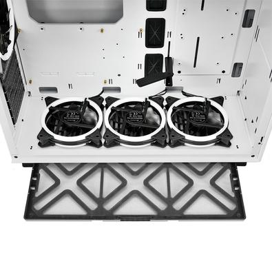 Gabinete Gamer Sharkoon Pure Steel White RGB, ATX, com FAN, Lateral Vidro, Branco
