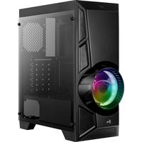 Gabinete Gamer Aerocool Aero Engine Mid Tower, RGB, com FAN, Lateral em Acrílico - 67968