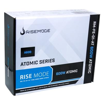 Fonte Rise Mode Atomic Series 600W, 80 Plus Bronze - RM-FE-01-AT