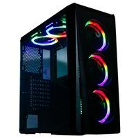 Gabinete Gamer Rise Mode Glass 04, ATX/ M-ATX/ ITX, RGB, com FAN, Lateral em Vidro - RM-CA-04-RGB
