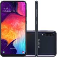 Smartphone Samsung Galaxy A50, 128GB, 25MP, Tela 6.4´, Preto - SM-A505GZKSZTO