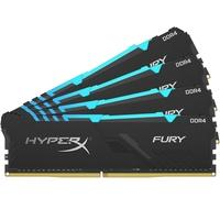 Memória HyperX Fury RGB, 32GB (4x8GB), 3466MHz, DDR4, CL16, Preto - HX434C16FB3AK4/32