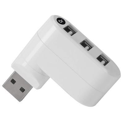 HUB USB Bright, 3 Portas 2.0, Branco - 335