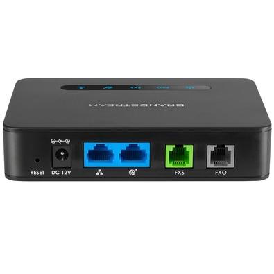 Adaptador ATA Híbrido Grandstream, 1 Porta FXS, 1 Porta FXO, Preto - HT813
