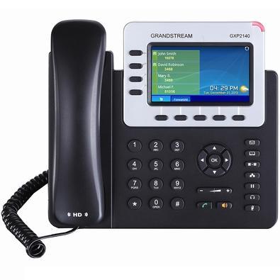 Telefone IP Grandstream, 4 Contas SIP, 4 Linhas, Preto - GXP2140