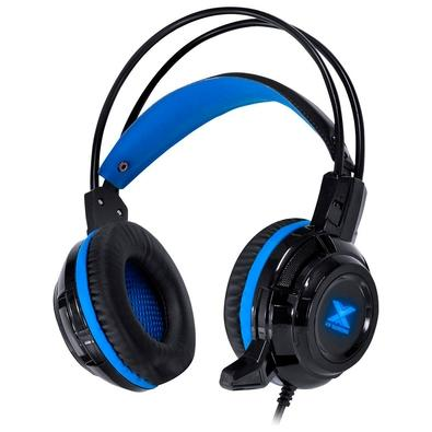 Headset Gamer Vinik VX Gaming Taranis V2, Drivers 40mm, Preto e Azul - 29870