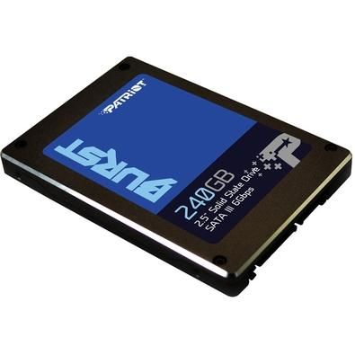 SSD Patriot Burst 2.5´, 240GB, SATA III, Leituras: 555MB/s e Gravações: 500MB/s - PBU240GS25SSDR