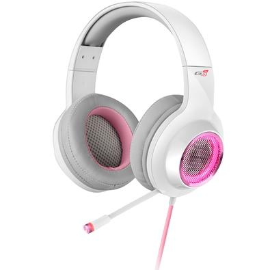 Headset Gamer Edifier G4 Pro, RGB, 7.1 Virtual Som Surround, Drivers 40mm, Branco e Rosa - G4PRO-Branco