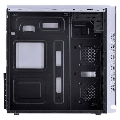 Gabinete Gamer Vinik VX Gaming Crater, Mid Tower, LED Azul, com FAN, Lateral e Frontal em Acrílico,  Branco - 29832
