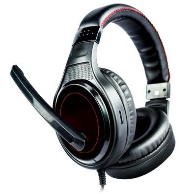 Headset Gamer DL Games SoundGate D1, Drivers 40mm, Preto e Vermelho - FG250PVM