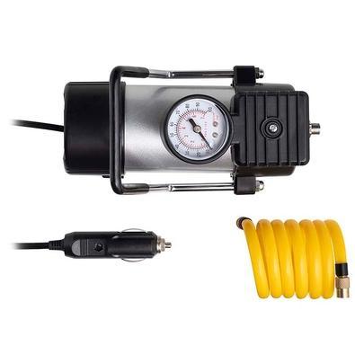 Compressor de Ar Automotivo Multilaser, 12V, Vazão 20L/min, 100psi, 3 Bicos Adaptadores - AU616