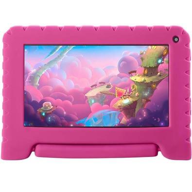Tablet Multilaser Kid Pad Go, Bluetooth, Android 8.1, 8GB, Tela de 7´, Pink - NB303
