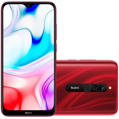 Smartphone Xioami Redmi 8, 64GB, 12MP, Tela 6.22´, Vermelho + Capa Protetora - CX284VER