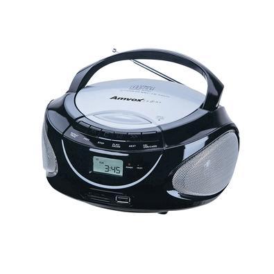 Rádio Portátil Amvox AMC 590 New, AM/FM, USB, CD-R/CD-RW, 15W RMS