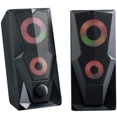 Caixa de Som Gamer Multilaser, LED RGB, 15W RMS, P2 - SP330