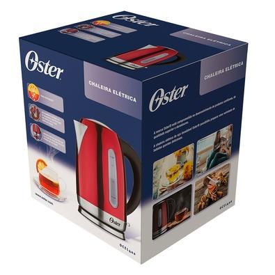 Chaleira Elétrica Oster, 1.7 Litros, 110V, Vermelha - OCEL400-127