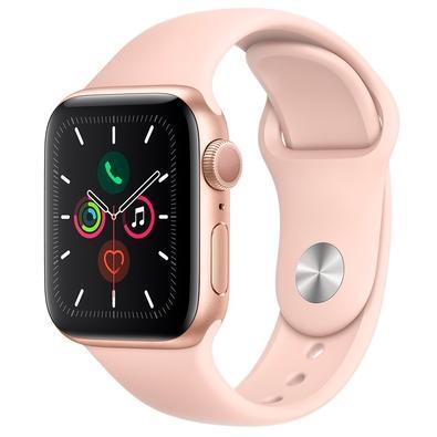 Apple Watch Series 5, GPS, 44mm, Dourado, Pulseira Areia Rosa - MWVE2BZ/A