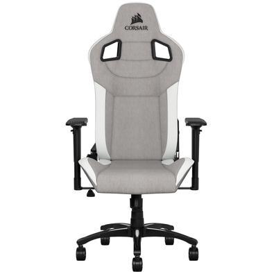 Cadeira Gamer Corsair T3 Rush, Cinza/Branco - CF-9010030