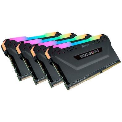Memória Corsair Vengeance RGB Pro, 32GB (4x8GB), 3000MHz, DDR4, CL15 - CMW32GX4M4C3000C15