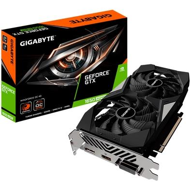 Placa de Vídeo Gigabyte NVIDIA GeForce GTX 1650 Super Windforce OC 4G, GDDR6 - GV-N165SWF2OC-4GD