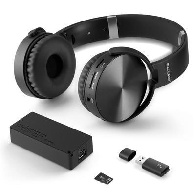 Kit Multilaser Music Play - Headphone Bluetooth + Power Bank 4000mAh + Leitor USB + Micro SD 32GB - MC250