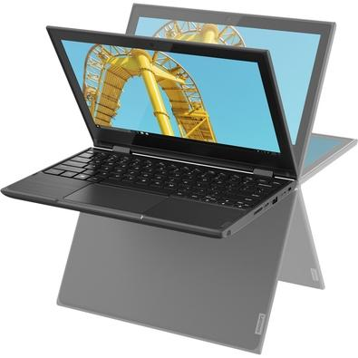 Notebook Lenovo 2 em 1 300e, Intel Celeron Quad Core N4100, 4GB, 64GB, Windows 10, 11.6´ - 81M90042BR