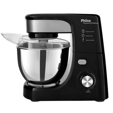 Batedeira Planetária Philco PHP500 Turbo, 11 Velocidades, 500W, 110V, Inox/Preta - 103401034