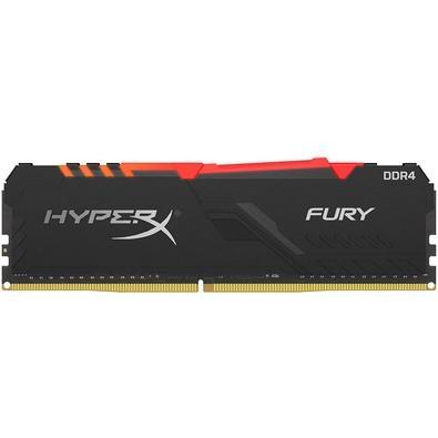 Memória HyperX Fury RGB, 8GB, 3733MHz, DDR4, CL19, Preto - HX437C19FB3A/8