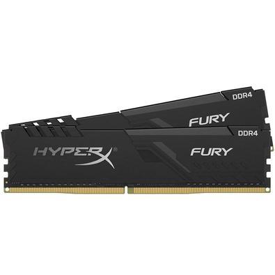 Memória HyperX Fury, 32GB (2x16GB), 3600MHz, DDR4, CL17, Preto - HX436C17FB3K2/32