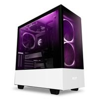 Gabinete Gamer NZXT H510 Elite, Mid Tower, RGB, com FAN, Lateral e Frontal em Vidro, Branco - CA-H510E-W1