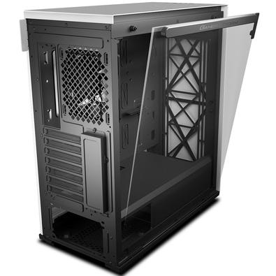 Gabinete Gamer Deepcool Macube 310, Small Tower, com FAN, Lateral em Vidro, Branco - GS-ATX-MACUBE310-WHG0P