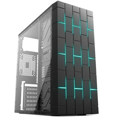 Gabinete Gamer Kworld Gaming Vela M3, Mid Tower, RGB, com FAN, Lateral em Vidro - VELA M3