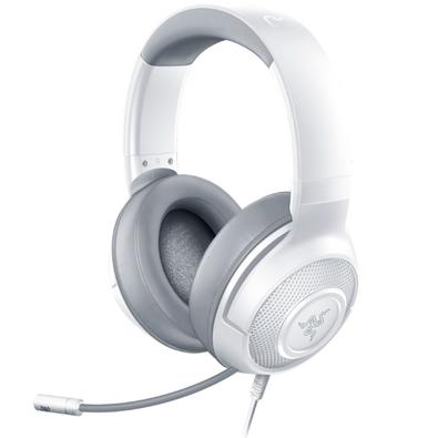 Headset Gamer Razer Kraken X, P2, Drivers 40mm, Mercury White - RZ04-02890300-R3U1