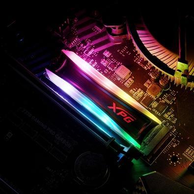SSD XPG Spectrix S40G RGB, 2TB, M.2 PCIe, NVMe, Leituras: 3500Mb/s e Gravações: 3000Mb/s - AS40G-2TT-C