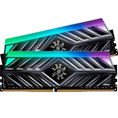 Memória XPG Spectrix D41, RGB, 16GB (2x8GB), 3600MHz, DDR4, CL17, Cinza - AX4U360038G17-DT41